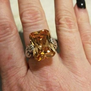 Jewelry - Sterling silver ring. Citrine stone.